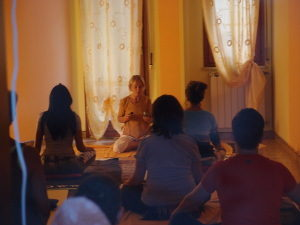 Yoga nella sede di Piazza Berlinguer